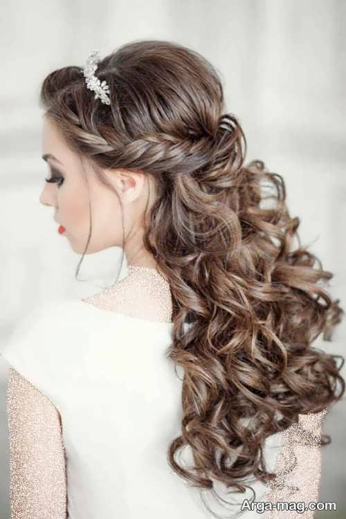 آرایش موی فر برای عروس