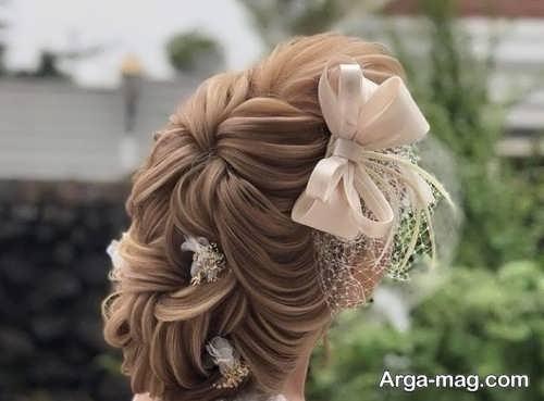 شینیون خطی برای عروس