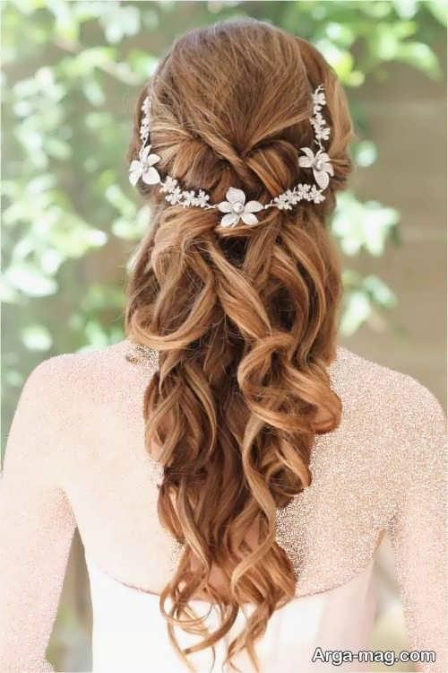آرایش موی باز برای عروس