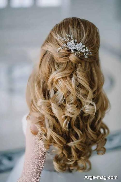 شینیون موی فر عروس