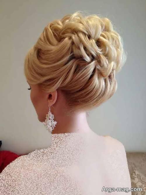 آرایش موی بسته عروس