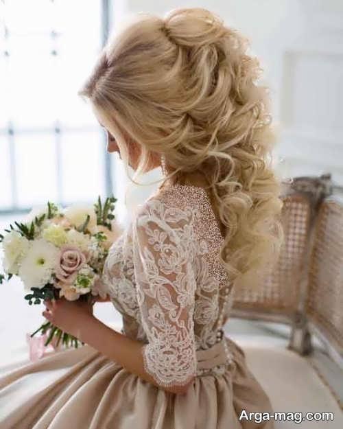 شینیون موی فر برای عروس