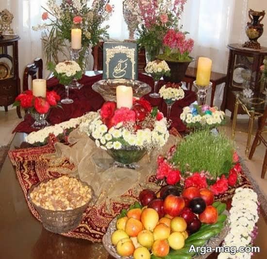 جدیدترین تزیین میز پذیرایی عید نوروز