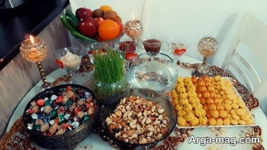 چیدمان بی نظیر میز پذیرایی برای عید نوروز