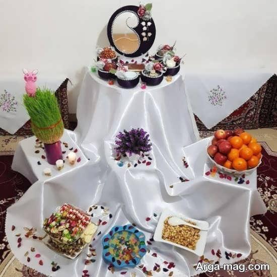 چیدمان فوق العاده میز پذیرایی برای عید نوروز