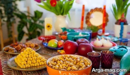 مناسب ترین تزیین میز پذیرایی عید نوروز