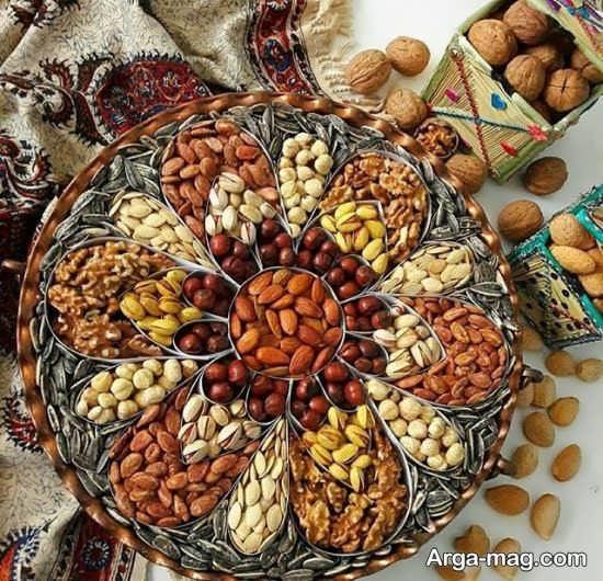 چیدمان هنرمندانه میز پذیرایی برای عید نوروز