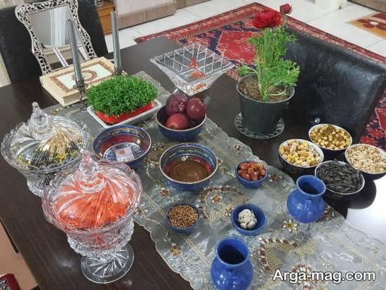 دیزاین جذاب میز پذیرایی عید نوروز