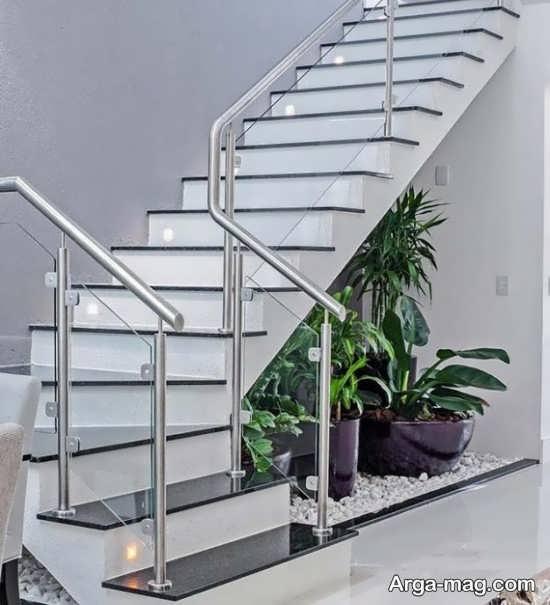 دیزاین زیر راه پله با طراحی لاکچری