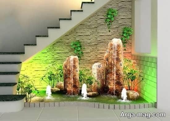 دیزاین زیر راه پله با طراحی خاص