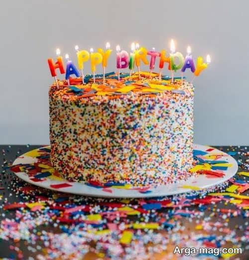 تزئین کیک با ترافل رنگی
