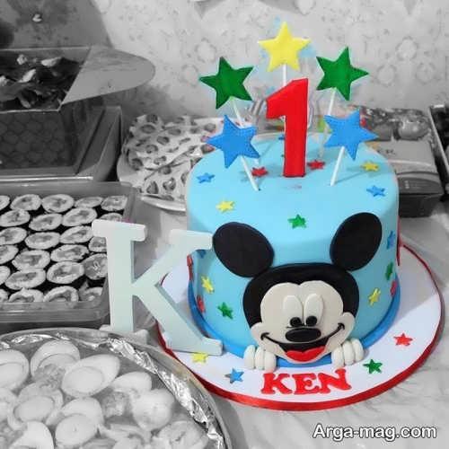 تزیین کیک تولد بچه گانه