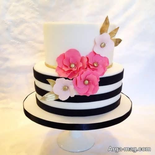 تزئین کیک با گل