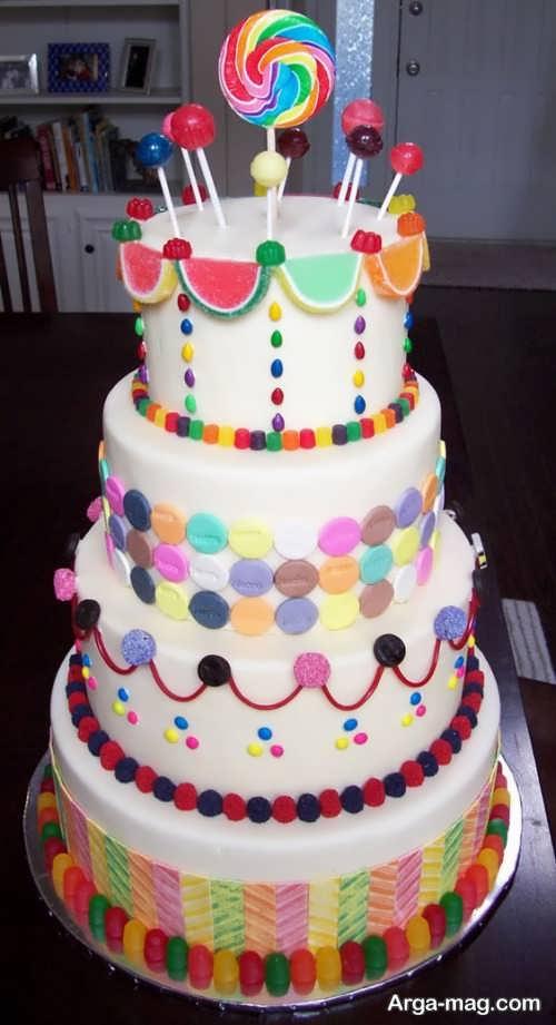تزئین کیک چند طبقه