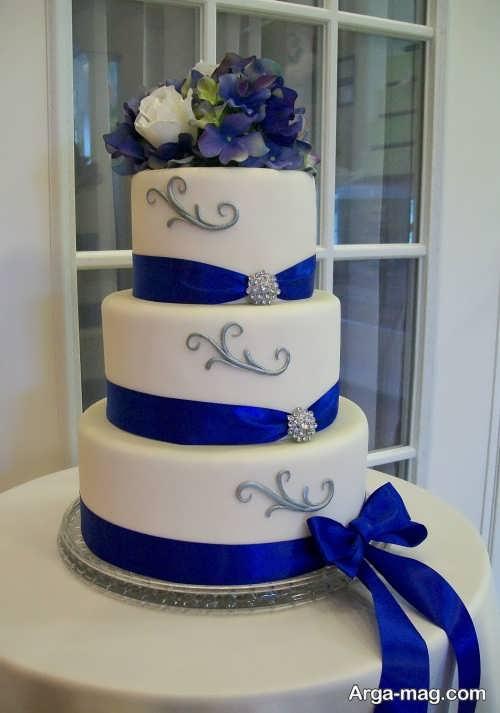 تزیین ساده کیک برای عروسی