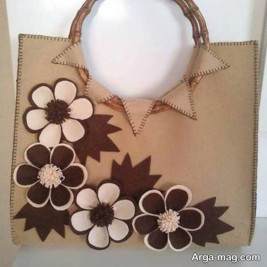 تزئین کیف نمدی