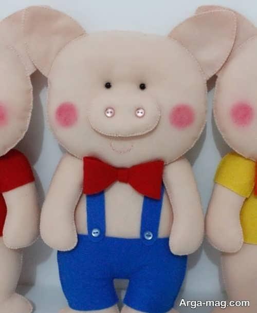 عروسک زیبا و جالب خوک