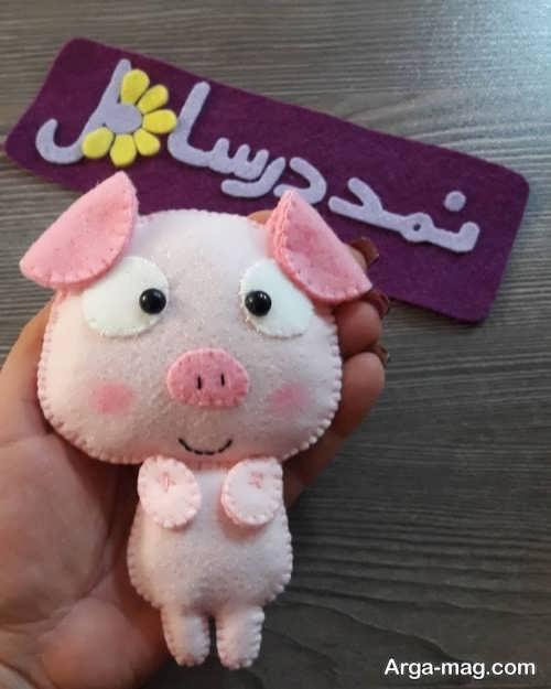 عروسک نمدی خوک