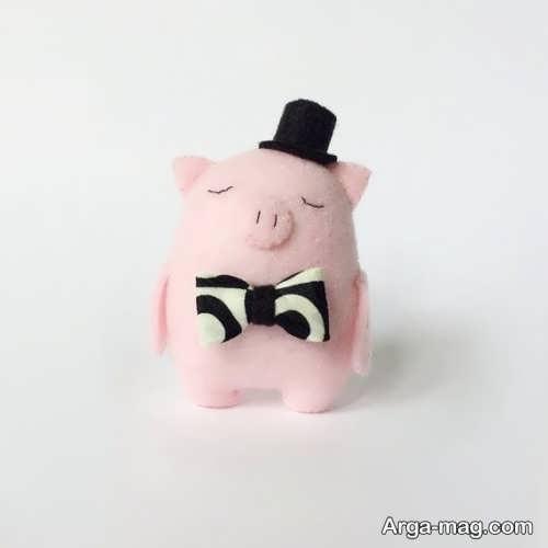 عروسک صورتی خوک