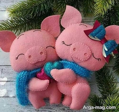 عروسک خوک زیبا