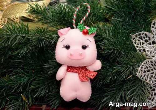 عروسک زیبا و بامزه خوک