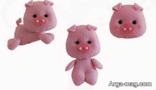 مدل عروسک نمدی خوک