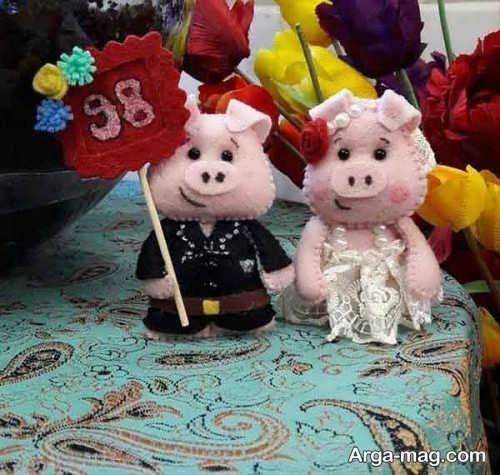 عروسک نمدی خوک 98
