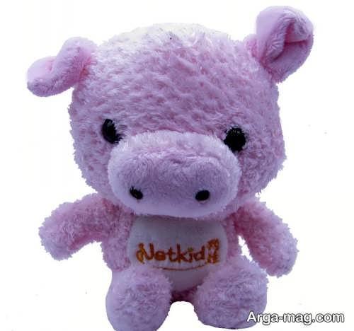 عروسک بنفش خوک