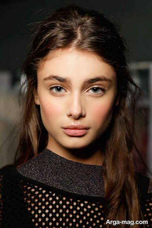 مدل آرایش صورت لایت دخترانه
