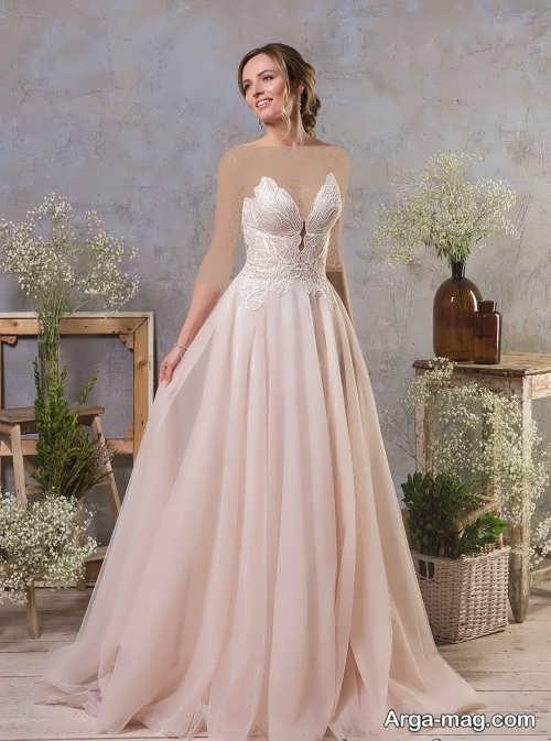 مدل پیراهن عروس دکلته