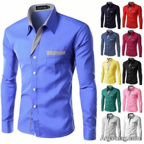 مدل پیراهن آبی مردانه