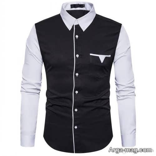 مدل پیراهن دو رنگ مردانه