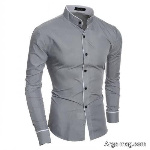 پیراهن خاکستری مردانه