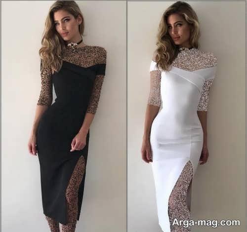 مدل لباس مجلسی کوتاه و شیک زنانه
