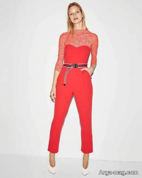 مدل لباس سرهمی قرمز