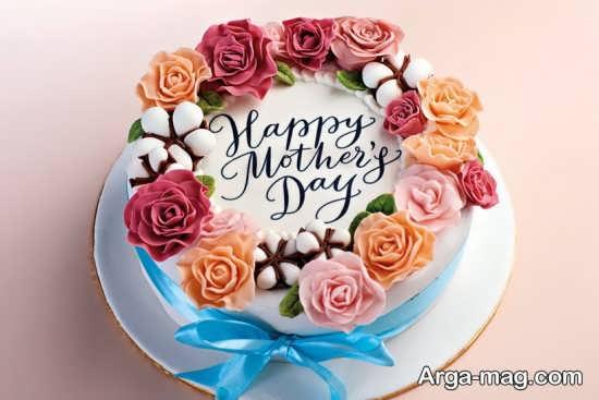تزیین خلاقانه کیک روز مادر