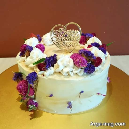 تزیین زیبا و خلاقانه کیک برای روز مادر
