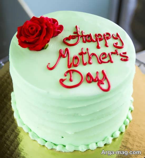 تزیین زیبا کیک برای روز مادر