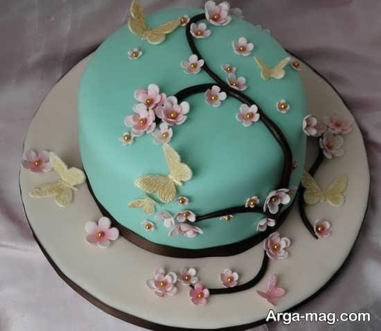 تزیین زیبا کیک روز مادر