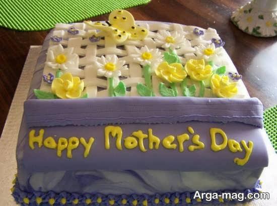 تزیین خلاقانه کیک برای روز مادر