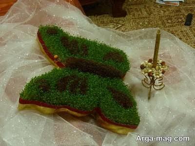 سبزه عید به صورت دو رنگ