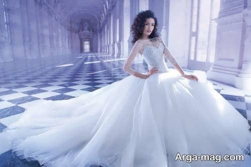مدل لباس عروس اسکارلت پفی
