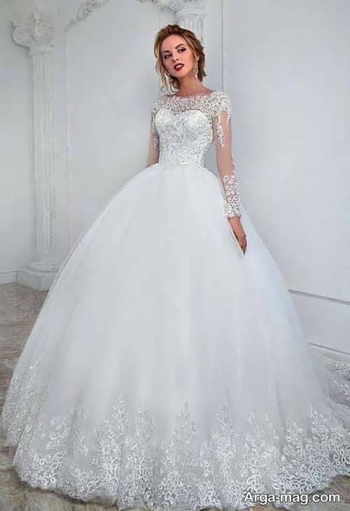 لباس عروس کار شده و شیک