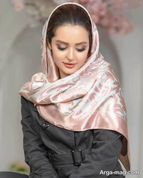 مدل روسری طرح دار و زیبا