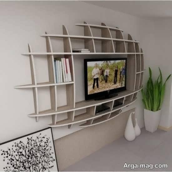 شلف و قفسه دیواری تلویزیون