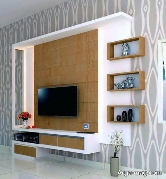شلف شیک و زیبای دیواری تلویزیون