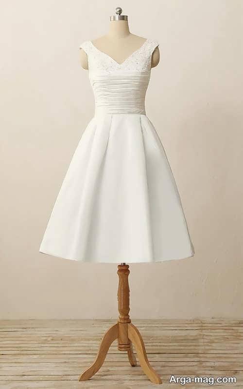 لباس عروس ساده و کوتاه