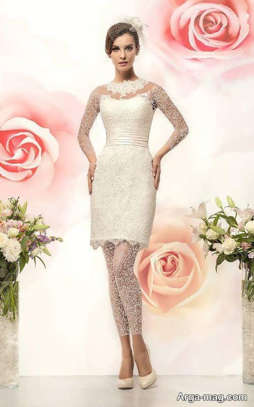 مدل لباس عروس زیبا و کوتاه