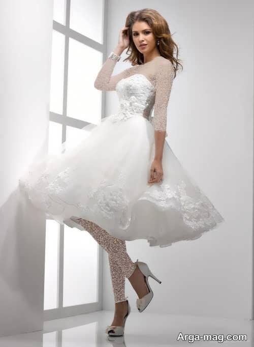 مدل پیراهن عروس شیک و ساده