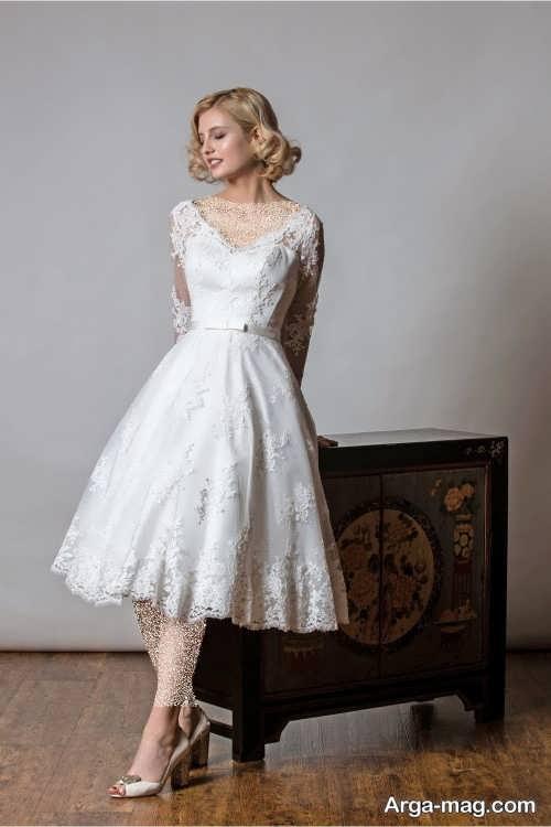 مدل پیراهن عروس شیک و کوتاه